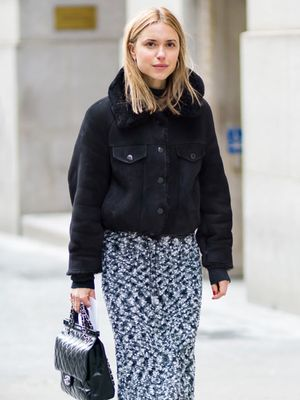 How to Wear a Skirt When It's Freezing Outside