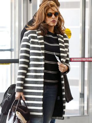 Eva Mendes Dares to Mix Her Stripes—and It Works!
