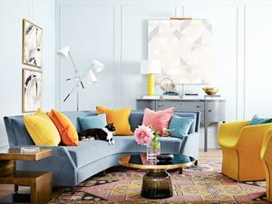 Get the Look: A Vibrant and Artful Living Room