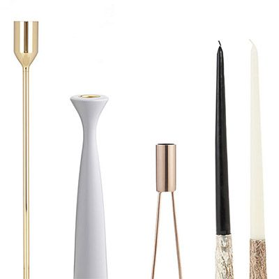 27 Elegant and Modern Candlesticks for Every Tabletop