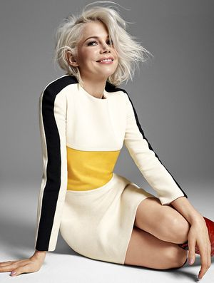 Michelle Williams Goes Bleach Blonde For Elle UK