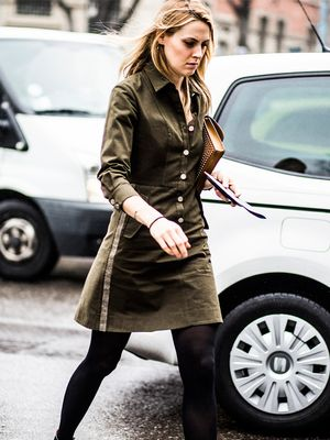 A Military-Inspired Take on the Shirtdress