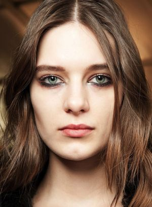Beachy Waves And Metallic Eyes At Roberto Cavalli F/W 2015