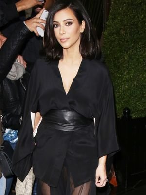 Kim Kardashian Makes a Strong Case for the Kimono Trend
