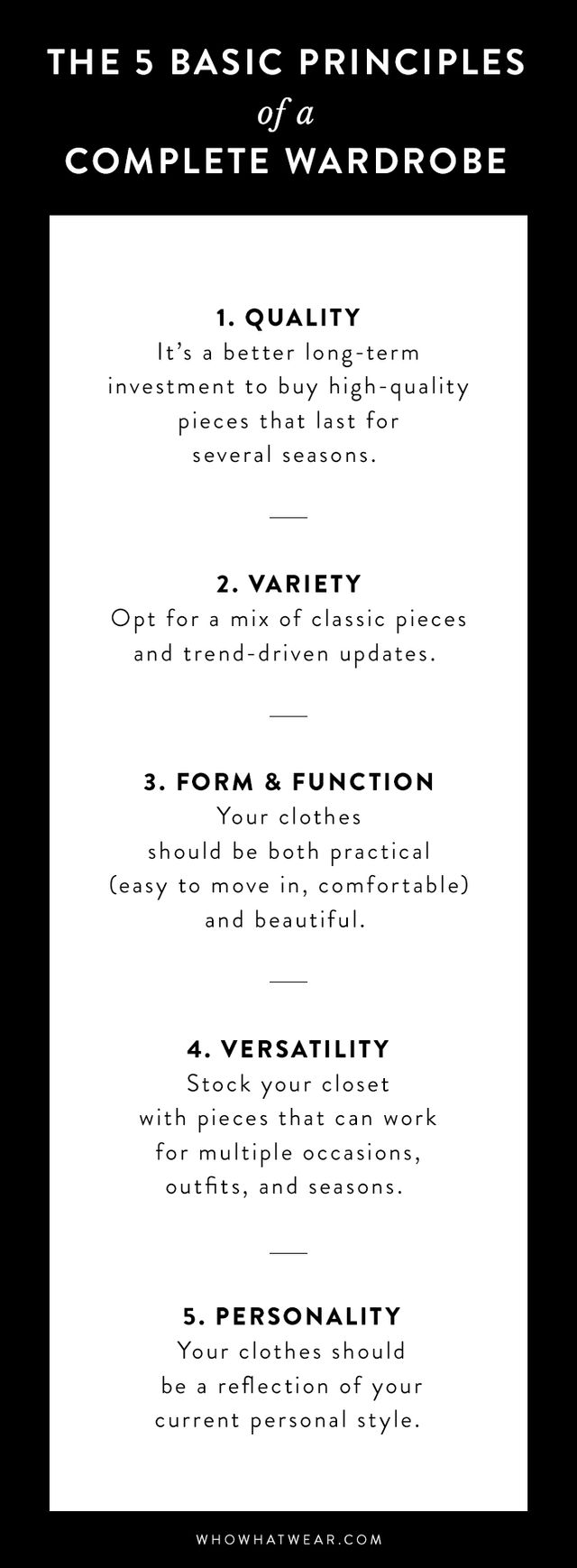 The 5 Basic Principles Of A Perfect Wardrobe