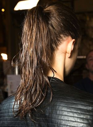 Textured Wet-Look Ponytails At Stella McCartney F/W 2015