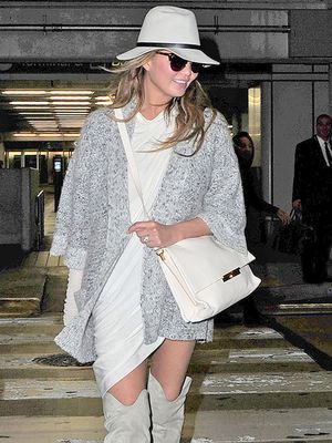 Chrissy Teigen Brings Her Bombshell Style to the Airport