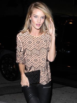 Rosie Huntington-Whiteley Makes the Statement Tee an After-Hours Essential
