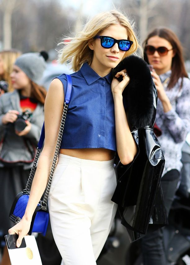 Street Style: Cobalt + White