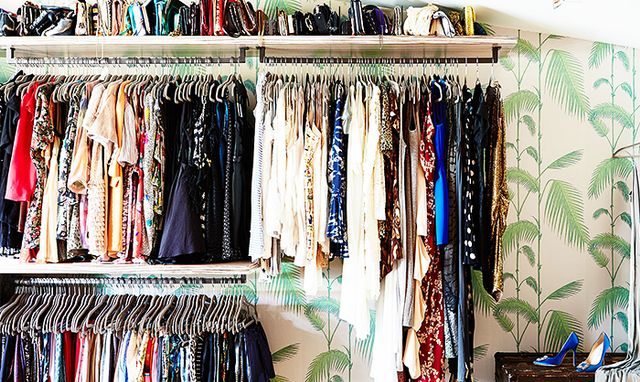 We've said it before and we'll say it again: Replacing your old hangers with slim hangers saves tons of space and keeps your clothing racks neat and tidy.