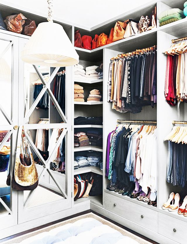 Double the storage? Yes, please! Just be sure to hang the rod under your short hanging items so that everything is visible.