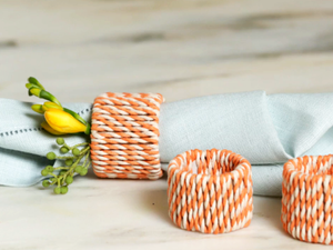 DIY These Chic Napkin Rings for Easter Brunch