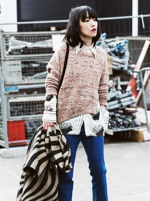 A Spring Layering Tip to Use With Your Favorite Sweaters