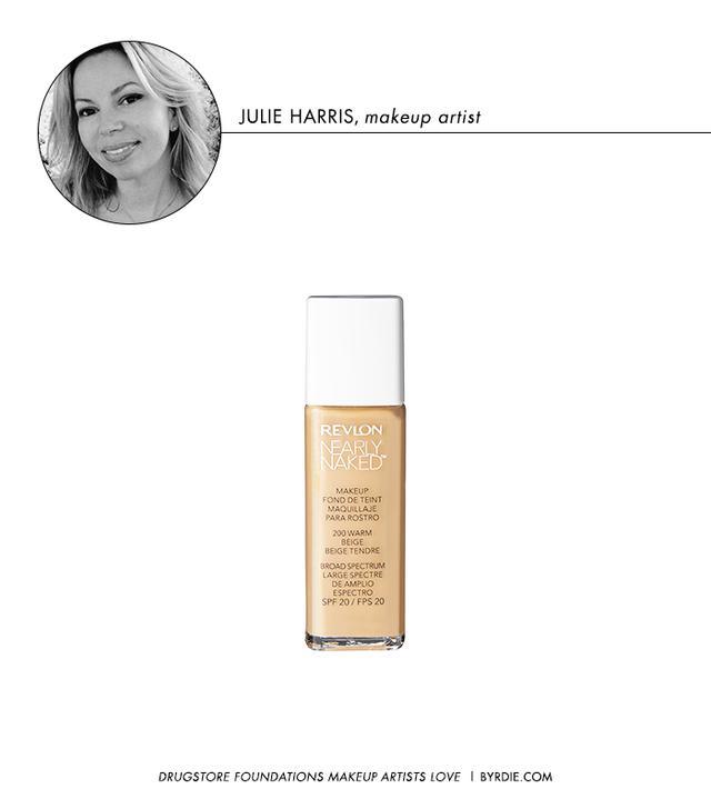 "Makeup Artist: Julie Harris Clients: Allison Williams, Ashley Greene, Kate Hudson Follow: @makeupqueennyc Favourite SupermarketFoundation: Revlon Nearly Naked Makeup ($25) ""I love the..."