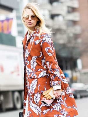 What to Wear With a Bold Spring Coat