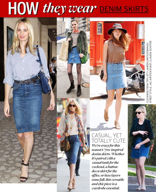 Denim Skirts