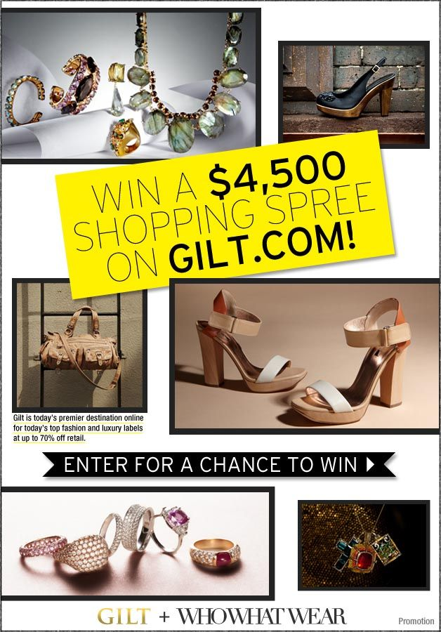 Win a $4500 Shopping Spree on Gilt.com!