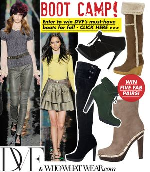 DVF and WhoWhatWear.com Boot Camp Sweepstakes!