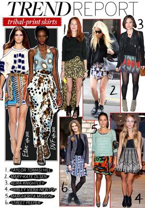 Tribal-Print Skirts