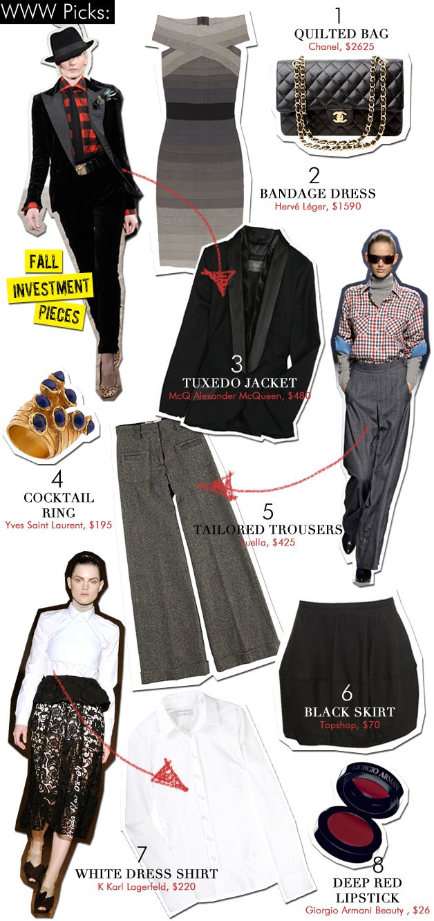 Fall Investment Pieces
