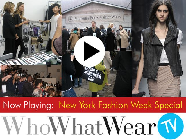 New York Fashion Week Special: Part One