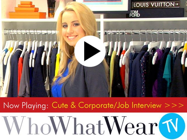 Cute & Corporate/Job Interview