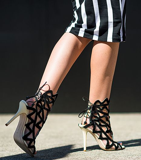 Spring's Most Sultry Shoe? The Lace-Up Heel