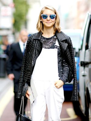 An Edgy Take on Your Favorite White Overalls