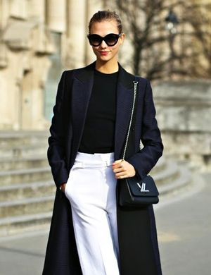Model-Off-Duty Style: Copy Karlie Kloss' Work-Perfect White Pants Look
