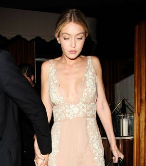 Gigi Hadid's Charming Floral Embroidered Jumpsuit
