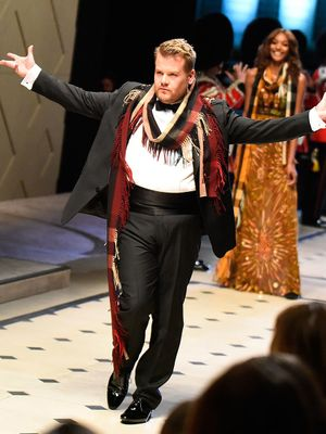James Corden Makes His Hilarious Modeling Debut with Naomi Campbell