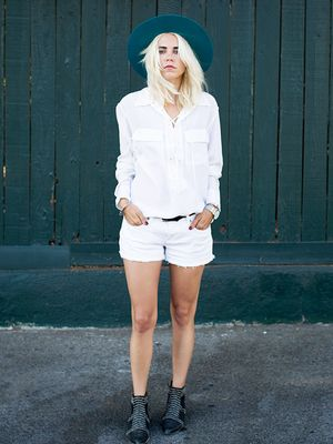 Meet the Simple White Blouse That's Having a Major Moment