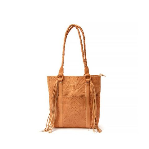 Guadalupe Tooled Leather Tote