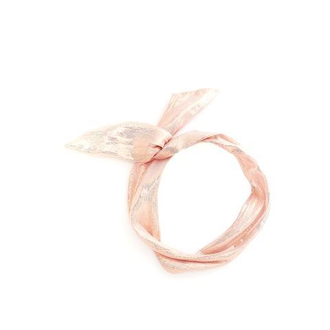 Twist Scarf in Metallic Rose Gold