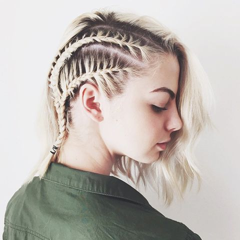 Astonishing 10 Braids That Look Amazing On Short Hair Byrdie Hairstyle Inspiration Daily Dogsangcom