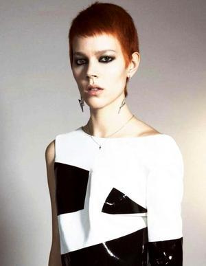 Freja Beha Erichsen Sports A Red Pixie Cut For Vogue Paris