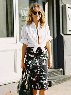 A Sexy Way to Style Your Basic White Shirt