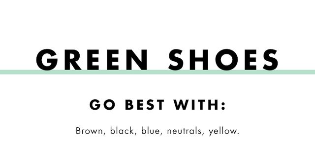 What to wear with coloured heels:  green shoes