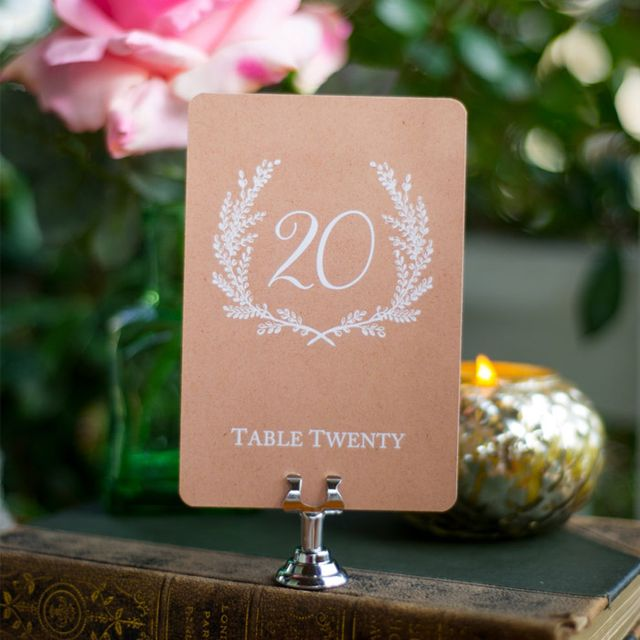 9 Chic and Affordable Table Numbers for Every Wedding Style