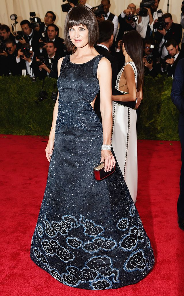 WHO: Katie Holmes WEAR: Zac Posen gown; Chopard jewelry.