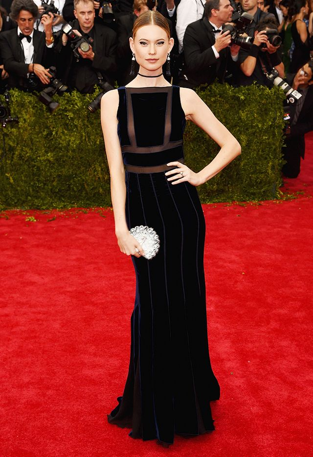 WHO: Behati Prinsloo WEAR: Tommy Hilfiger gown.