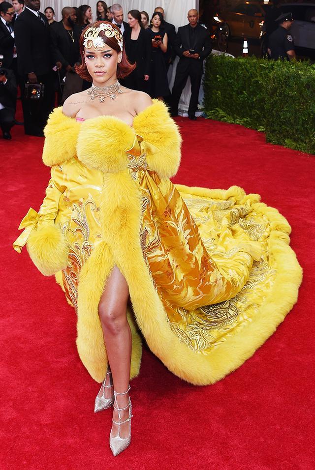 WHO: Rihanna WEAR: Guo Pei gown.