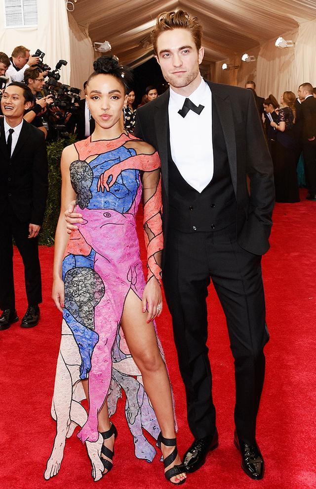 WHO: FKA Twigs and Robert Pattinson WEAR: Christopher Kane dress.