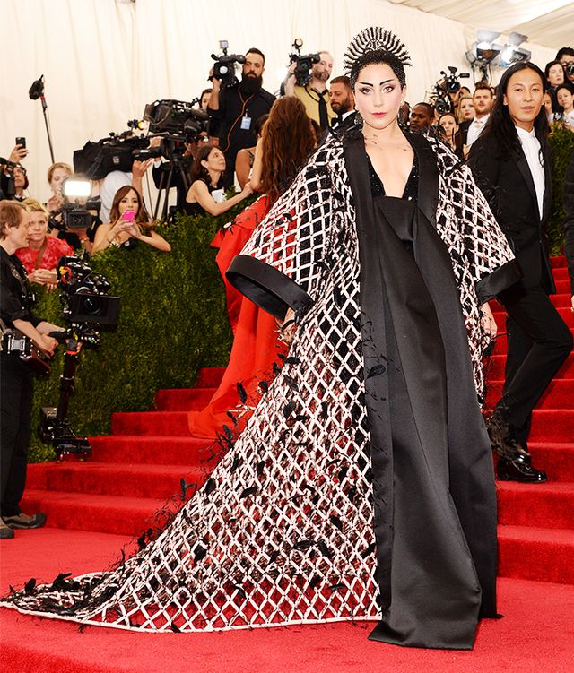 WHO: Lady Gaga WEAR:Alexander Wang forBalenciaga custom gown; Fred Leighton jewelry.