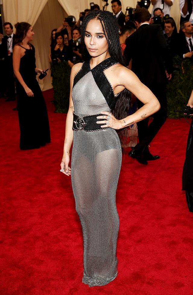 WHO: Zoe Kravitz WEAR: Alexander Wang for Balenciaga dress;Chopard jewelry.