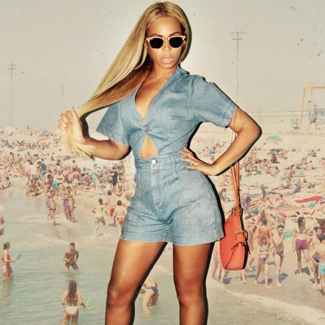 Found: Beyoncé's Cutout Denim Playsuit