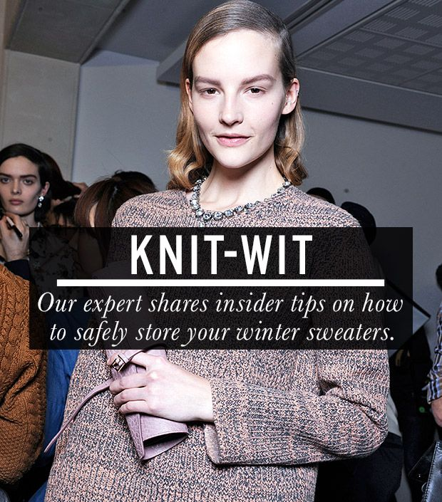 Everything You Need To Know About Storing Your Knits