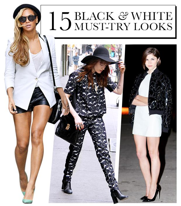 15 Inspiring Black and White Ensembles To Try Now