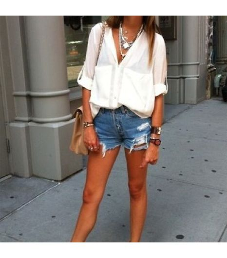 Stephanieunter is wearing: Shop Excess Baggage shirt, Omen Eye shorts.