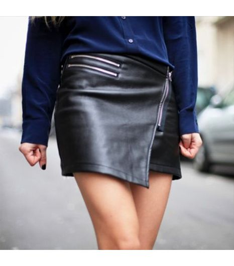 Adenorahmis wearing: Choies.com skirt.  Get The Look: BLK DNM Leather Biker Skirt ($396)  See more ways to wearleather skirts on Pose.com.